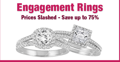 Engagement Rings - Prices Slashed - Save up to 75%