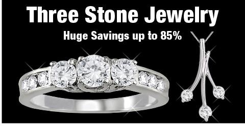 Three Stone Jewelry - Huge Savings up to 85%