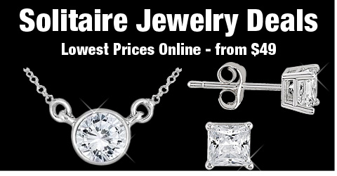 Solitaire Jewelry Deals - Lowest Prices Online - from $49