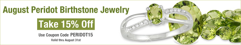 Peridot Jewelry Sale, August Birthstone