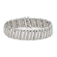 5 Carat Diamond Tennis Bracelet in .925 Sterling Silver