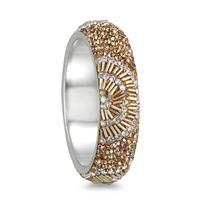 Szul.com - Citrine and White Crystal Gatsby Inspired Bangle - $17