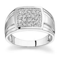 10kt White Gold Diamond Men's Ring