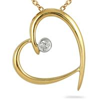 Diamond Pendant in 10kt Yellow Gold