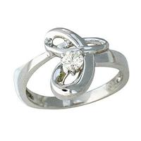 14kt. Diamond Twist Ring White Gold