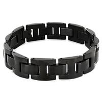 Stainless Steel Black Link Bracelet
