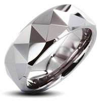 Tungsten Carbide Ring With Triagular Prism Design