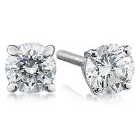 1/2 ct.tw Round Diamond Solitaire Earrings in 18 kt. White Gold