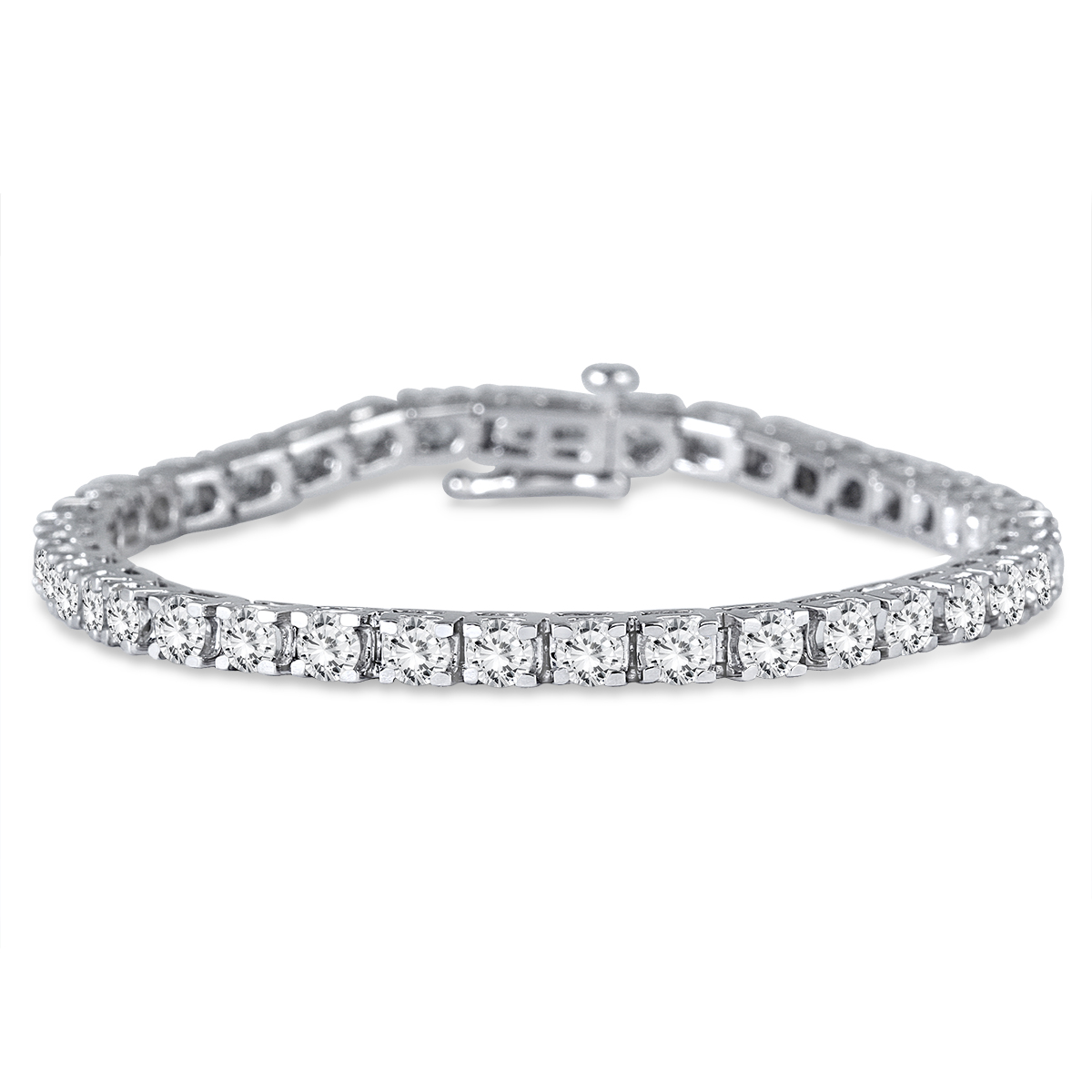 Premium Quality: 5 Carat Tw Classic Diamond Tennis Bracelet In 14k White Gold (h I Color, Si1 Si2 Clarity)