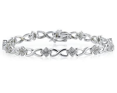 1/4 Carat TW Diamond Bracelet in 14K White Gold