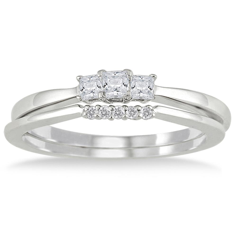 1/3 Carat TW White Princess Cut Diamond
