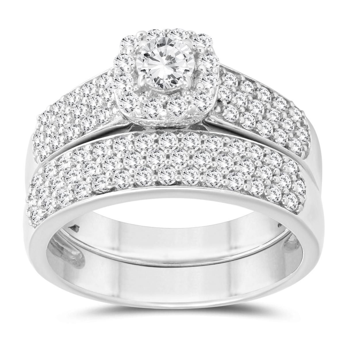 1 1/4 Carat TW Diamond Bridal Set in 10K White Gold
