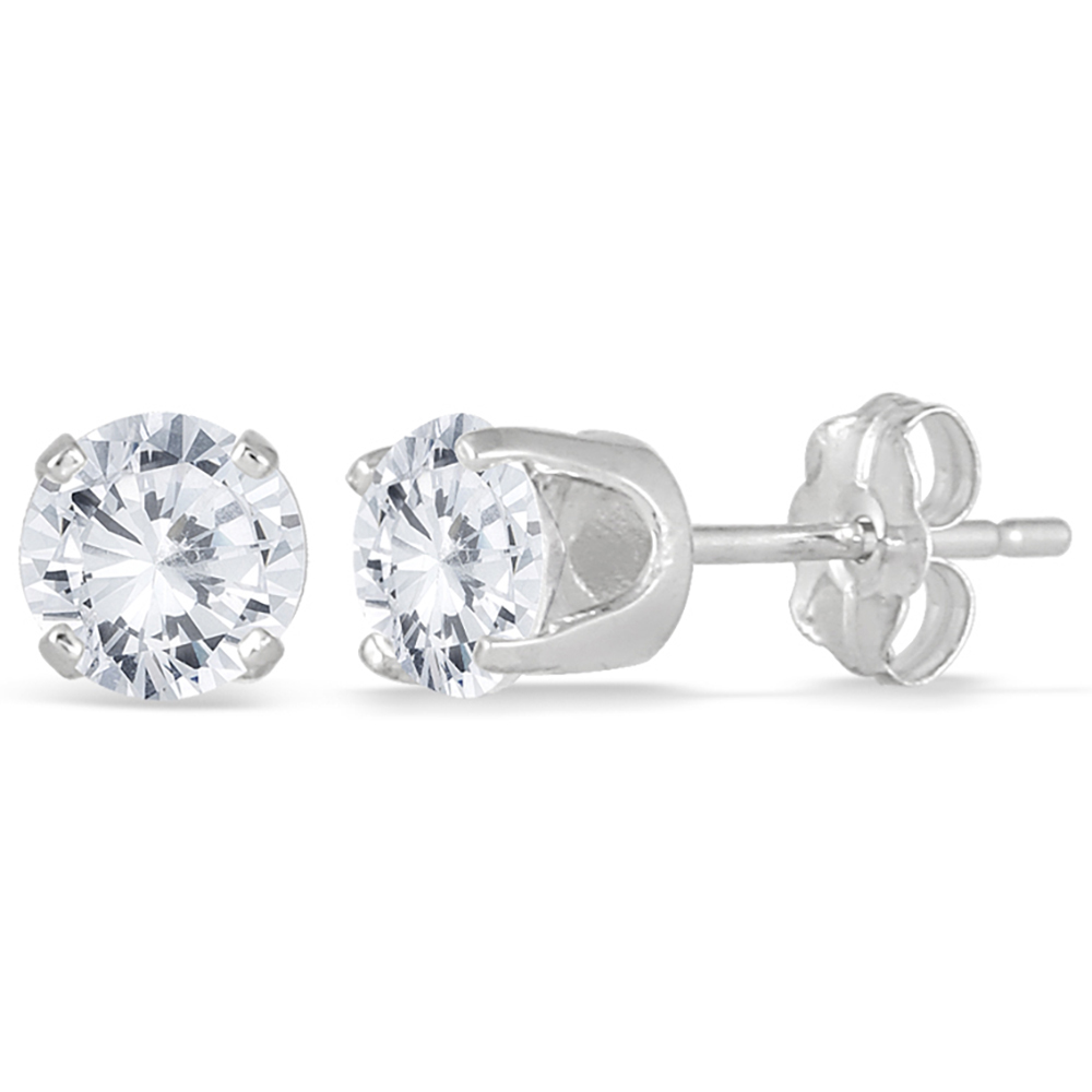 4b6490169 Szul.com, 1 Carat TW Diamond Solitaire Earrings in 14K White Gold,  View/Buy, 2299.00 ...