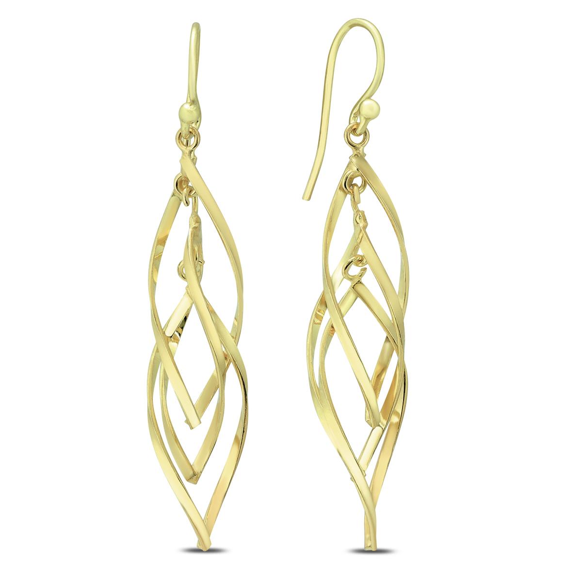 Plated .925 Sterling Silver Swirl Earrings