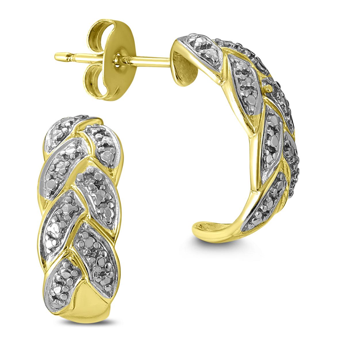 Diamond Earring in .925 Sterling Silver