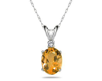 9X7mm Oval Citrine and...