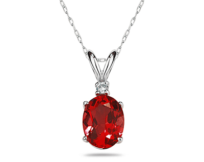 7X5mm Oval Ruby and Diamond...