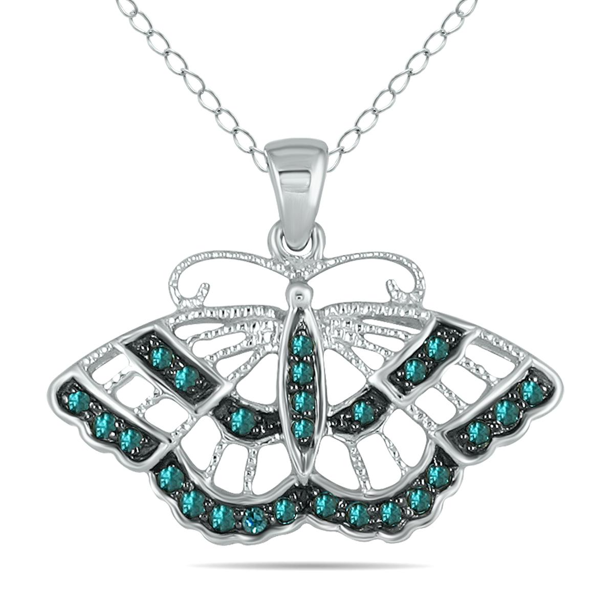 1/5 Carat TW Blue Diamond...
