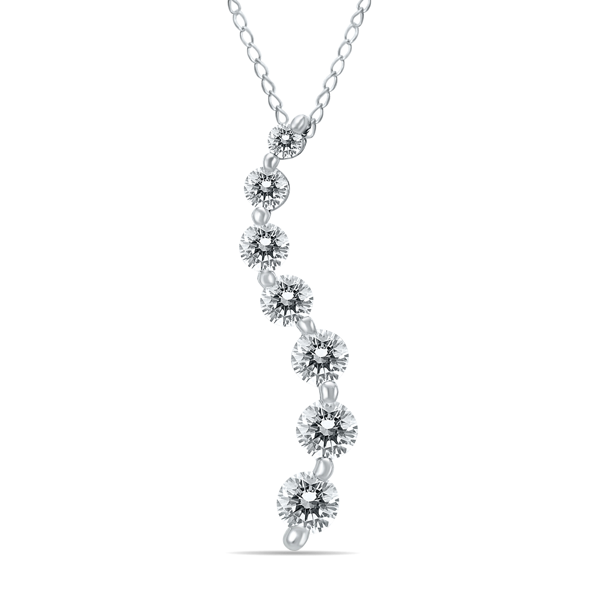 szul.com 1/2 Carat Diamond Journey Pendant in 10K White Gold at Sears.com