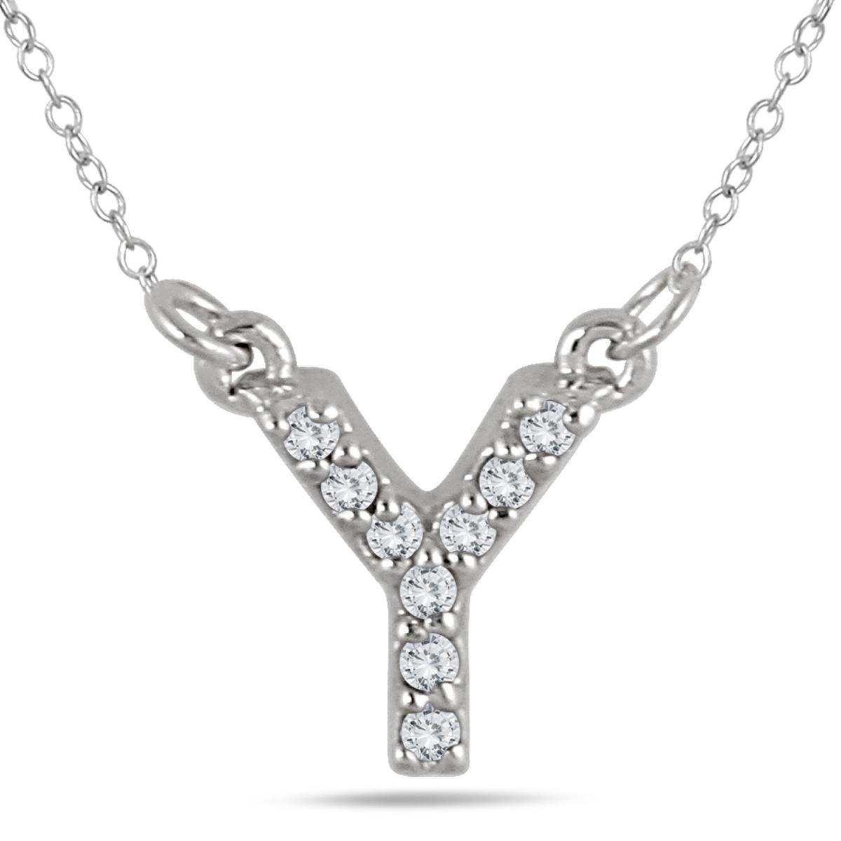 Y Initial Diamond Pendant...