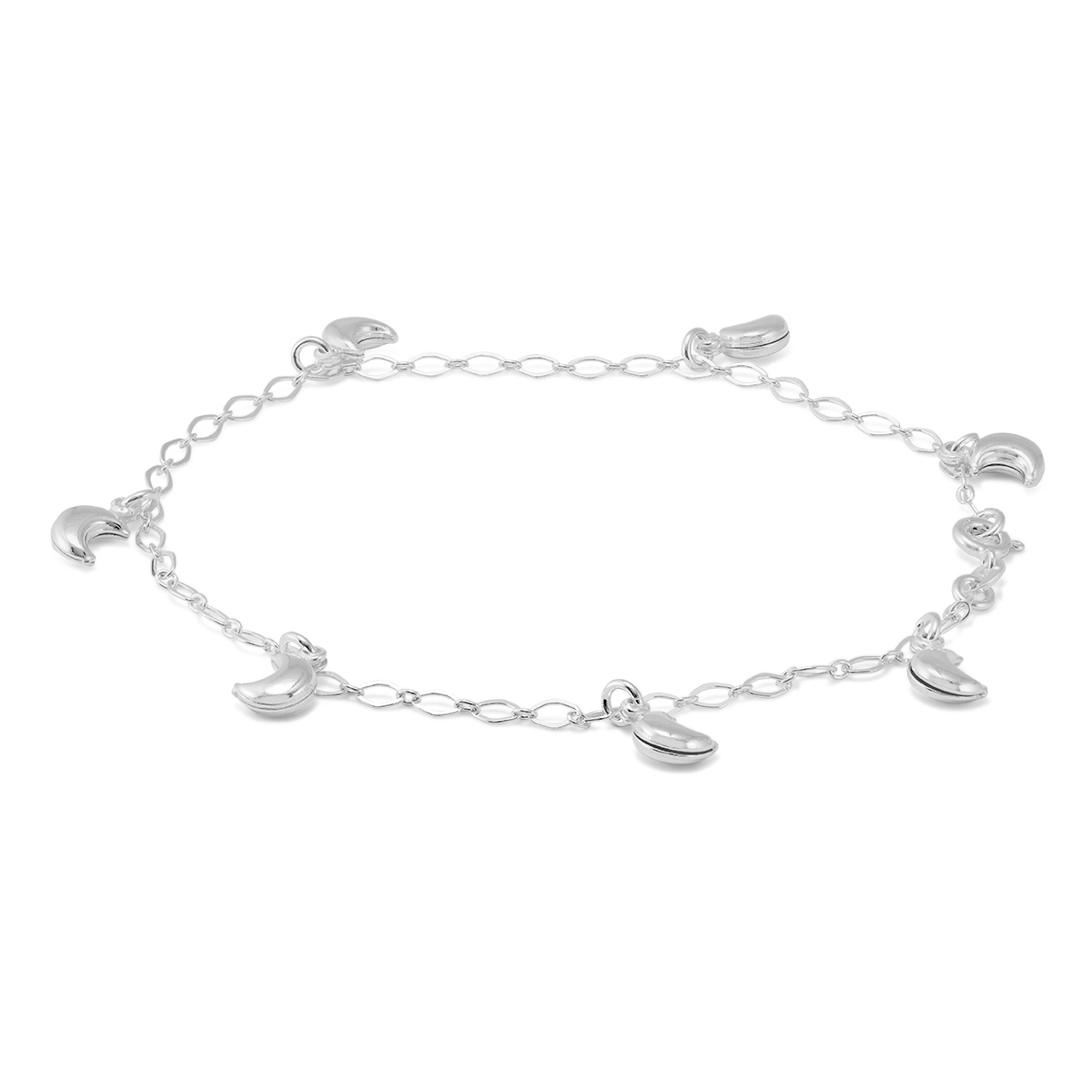 ECLIPSE SPECIAL – Moon Charm Anklet in .925 Sterling Silver