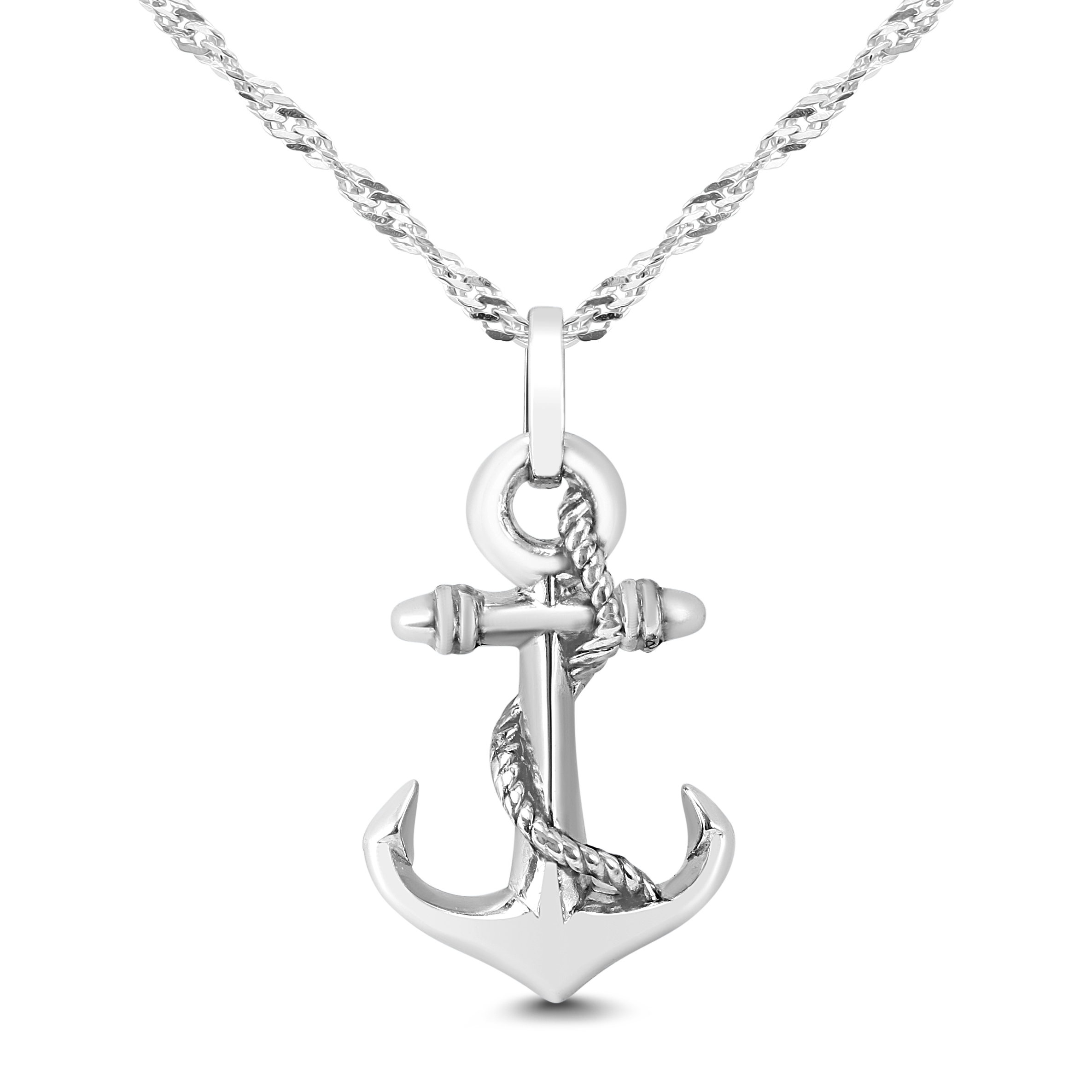 Anchor Necklace in .925...