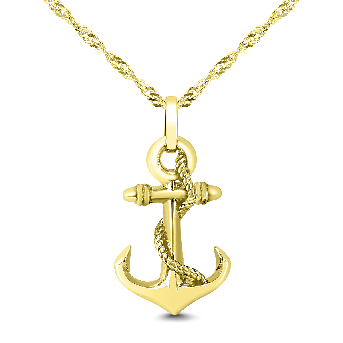 Anchor Necklace in 14K...