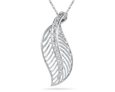 Diamond Leaf Pendant...