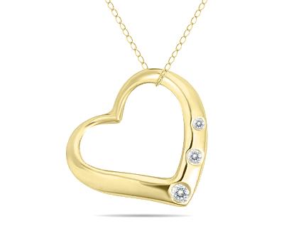 Three Stone Diamond Heart...