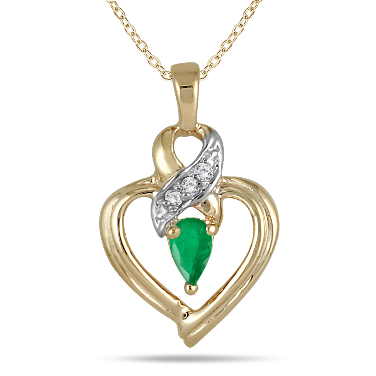 Pear Shaped Emerald and...