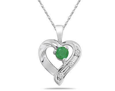 Emerald and Diamond Heart...