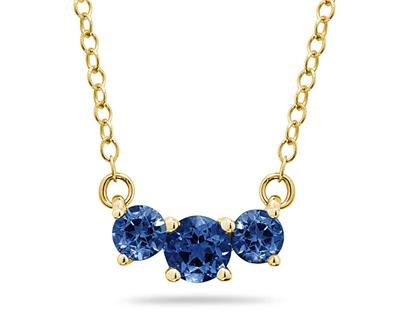 1 Carat TW Sapphire Three...