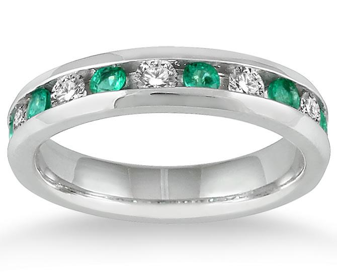 3/4 Carat Emerald and...