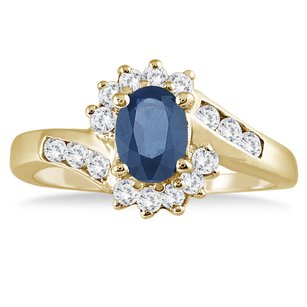 1 Carat Sapphire and...