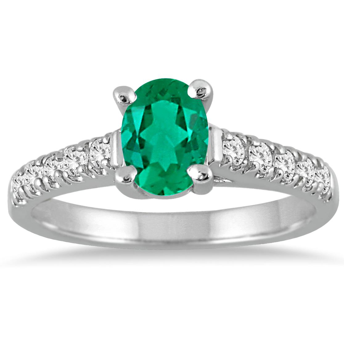1 Carat Oval Emerald...