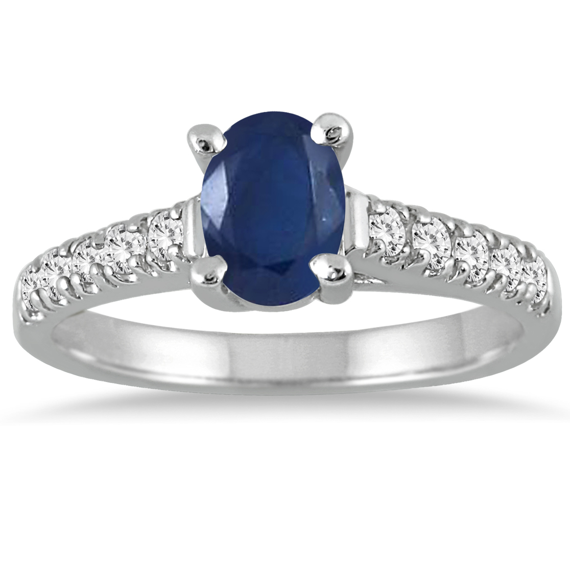 1 Carat Oval Sapphire...