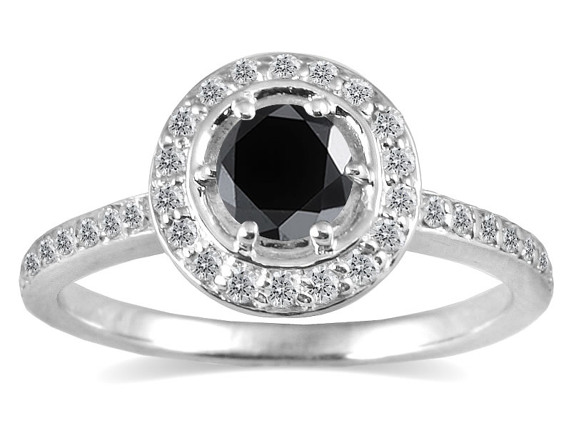 3/4 Carat TW Black and...