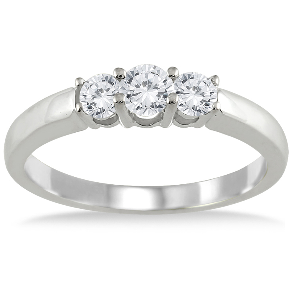 1/2 Carat TW Three Stone Diamond Ring