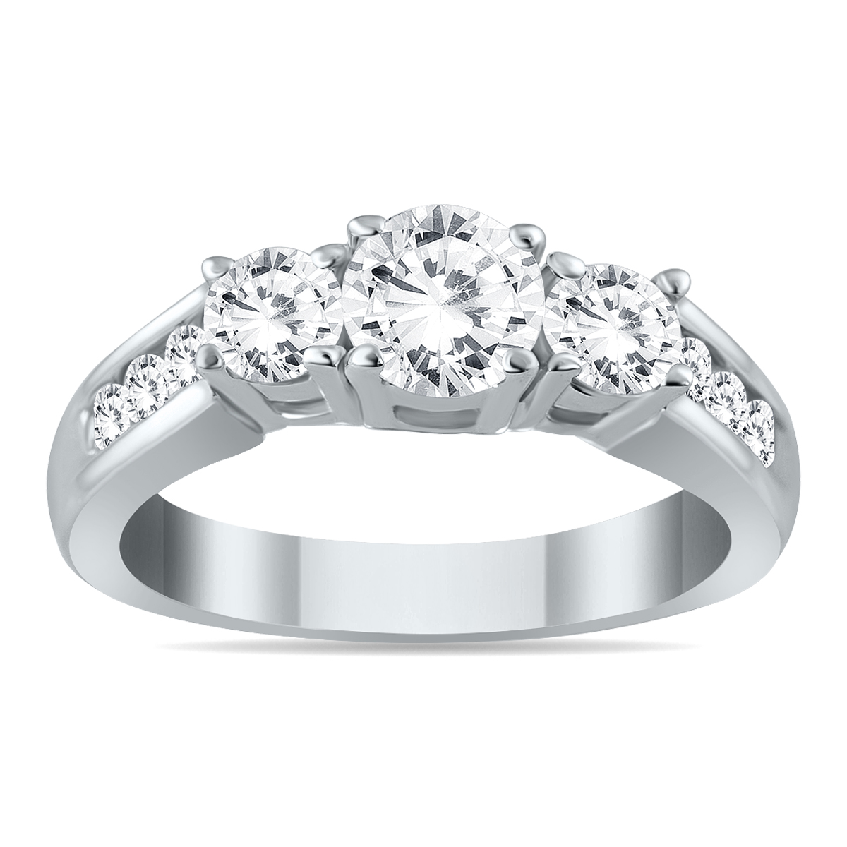 1 1/2 Carat TW Diamond Three Stone