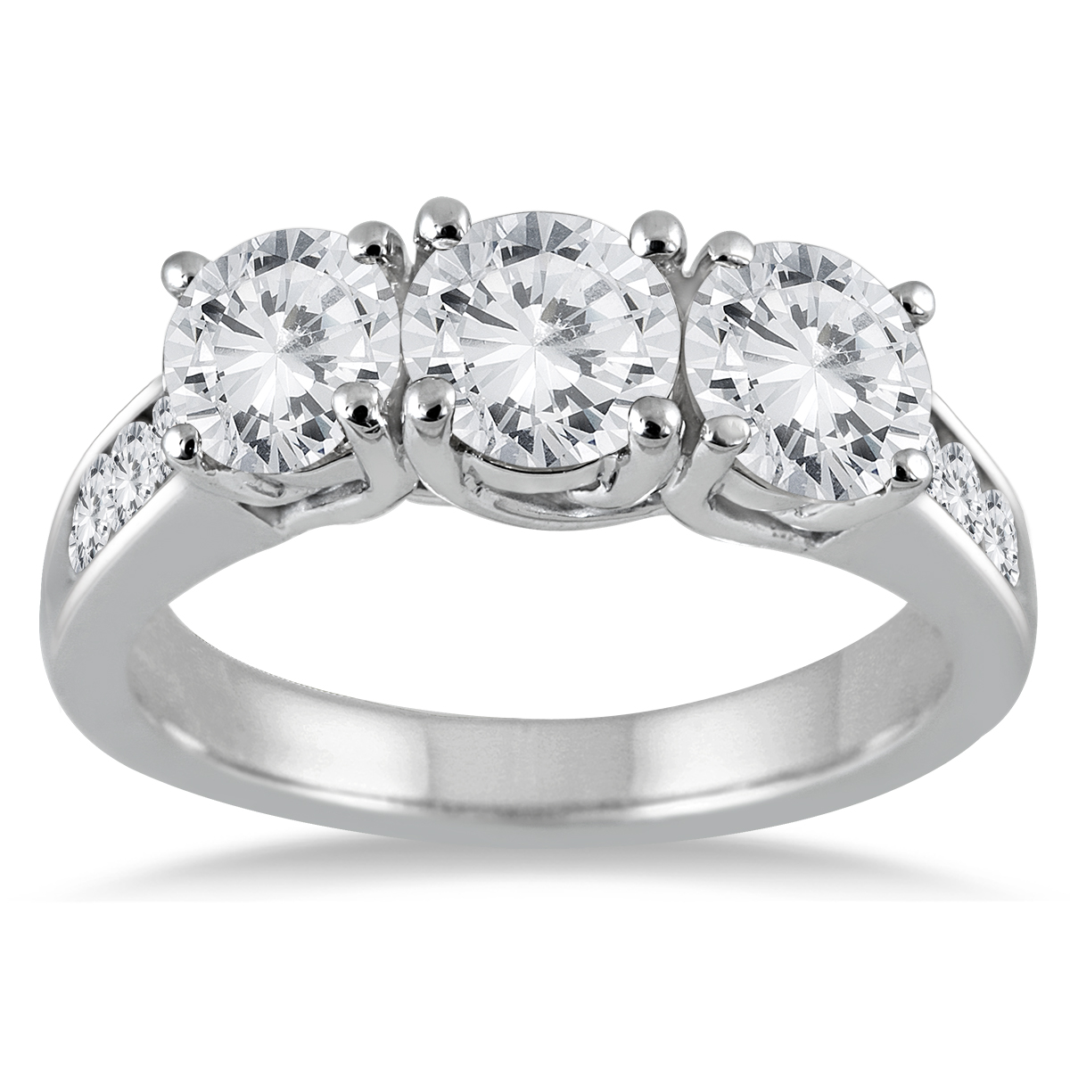 3 Carat TW Diamond Three Stone Ring