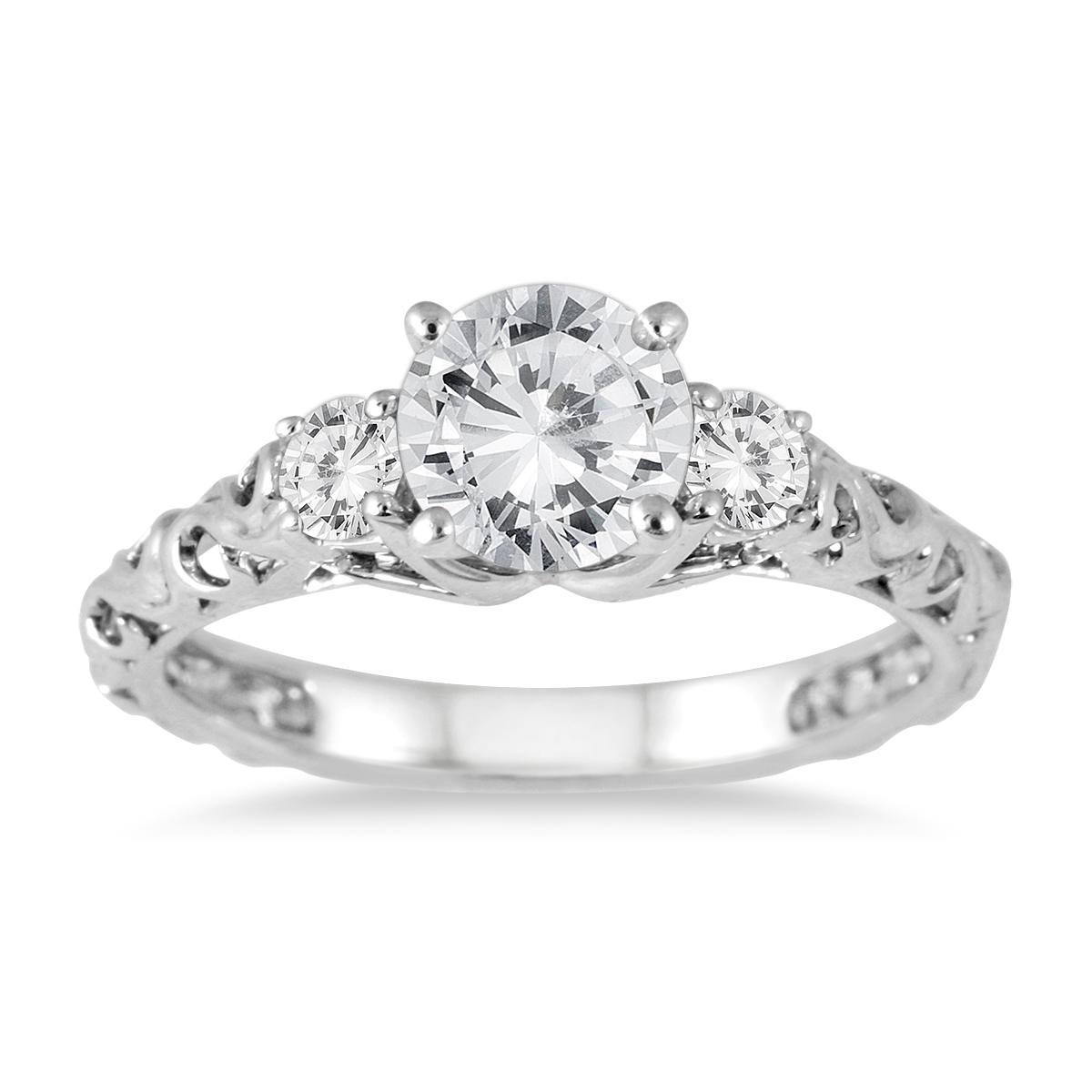 AGS Certified 1 Carat TW Diamond Three