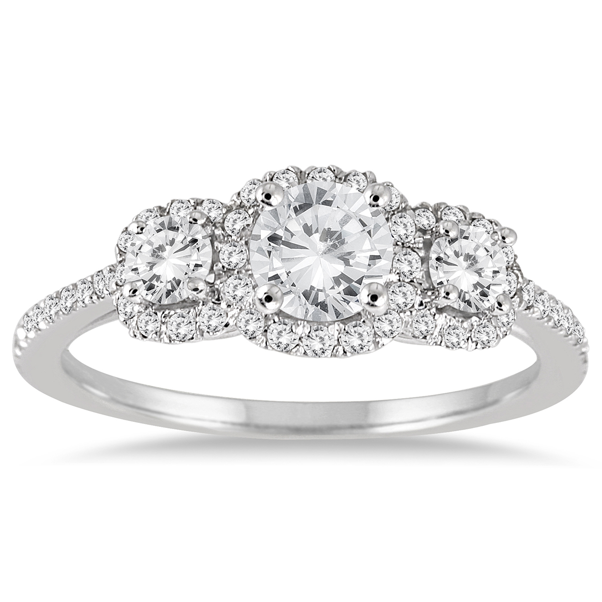 1 Carat TW Diamond Three Stone Ring