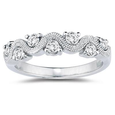 1/2 Carat TW White Diamond...