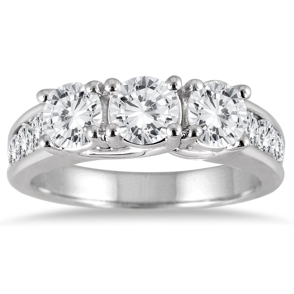 2 Carat TW Diamond Three Stone Ring