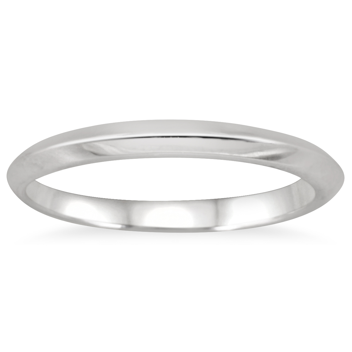 Plain Comfort-Fit Wedding Band in 14k White Gold