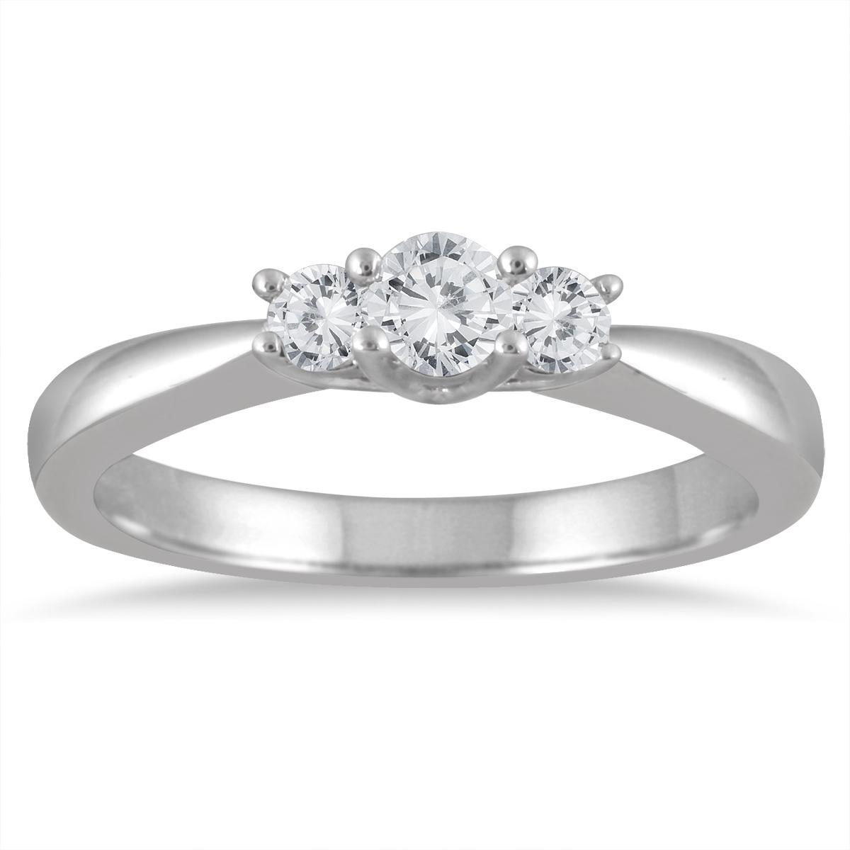 1/3 Carat TW Three Stone Diamond Ring