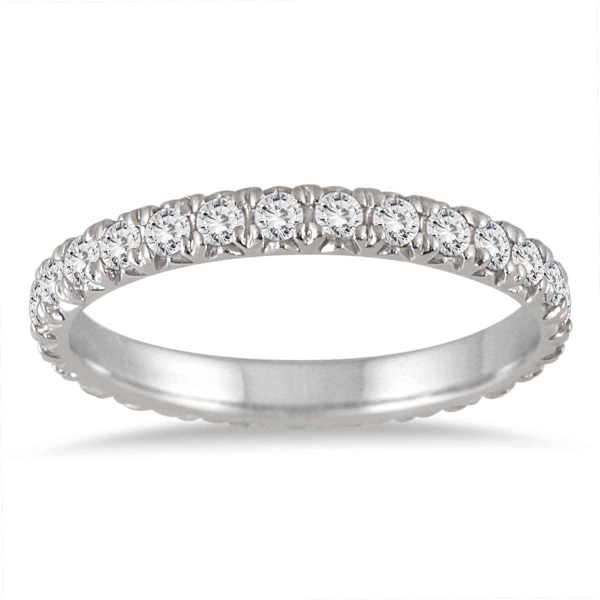 1 3/8 Carat TW Diamond Eternity Wedding Band in 14K White Gold