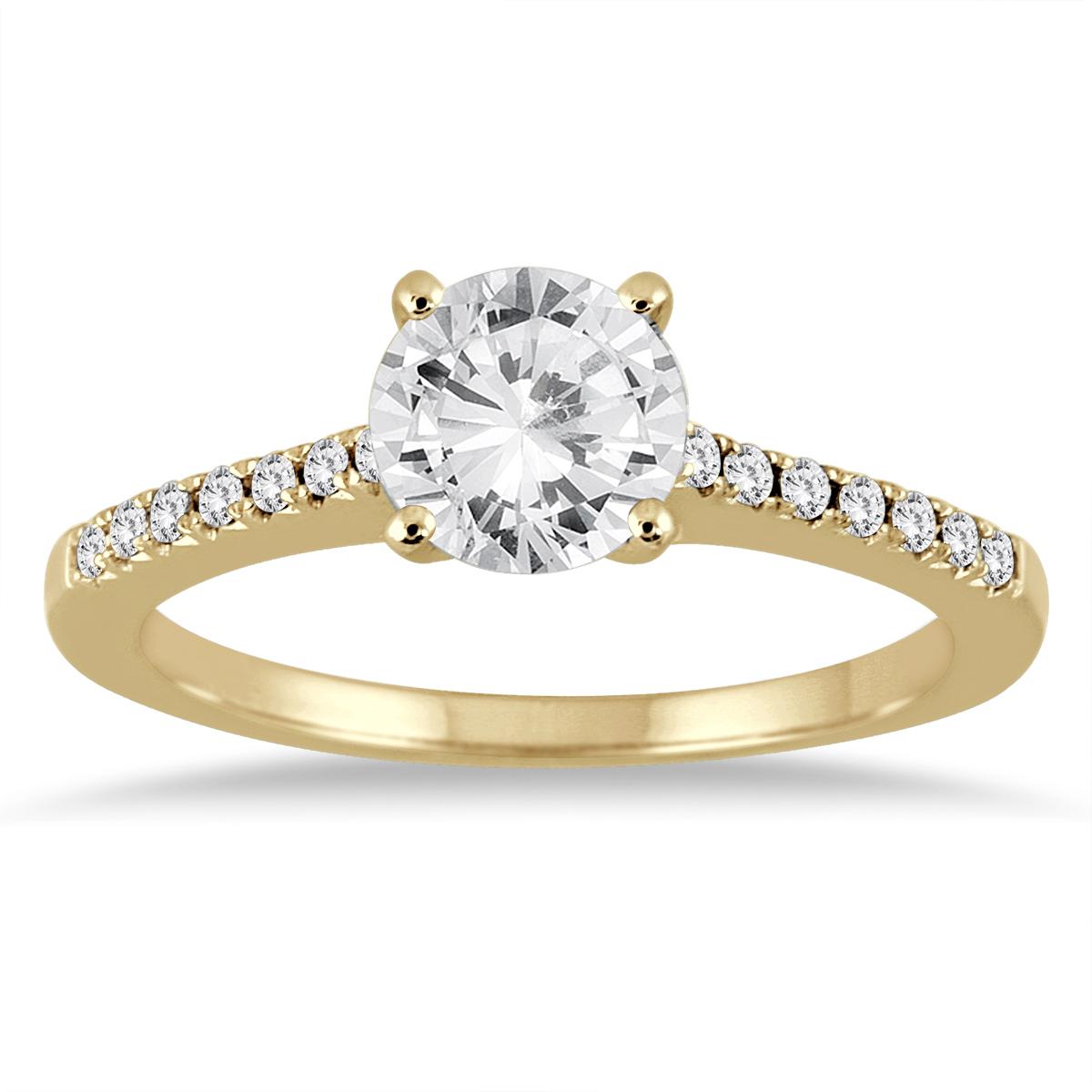 1 1/8 Carat TW Diamond Ring in 14K Yellow Gold