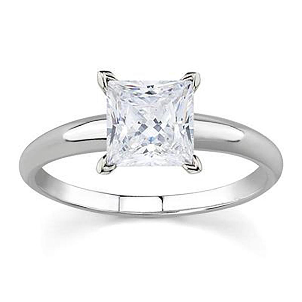 AGS Certified 1 Carat Princess Diamond Solitaire