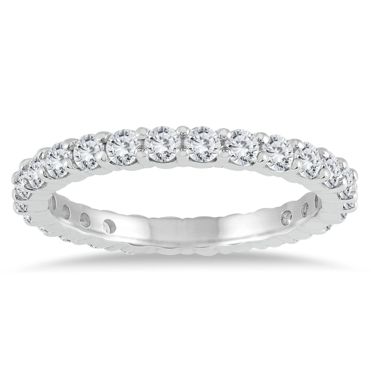 AGS Certified Diamond Eternity Band in 10K White Gold (1.15 - 1.40 CTW)